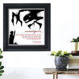 Literary Term, Onomatopoeia, The Jabberwocky Black and White Quote Poster. Available Plain Art Print, Laminated or Framed