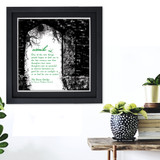 Literary Term, Simile, Secret Garden Black and White Quote Poster. Available Plain Art Print, Laminated or Framed.