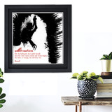 Literary Term, Alliteration, Beowulf Black and White Quote Poster. Available Plain Art Print, Laminated or Framed
