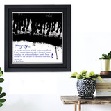 Literary Term, Imagery, The Jungle Quote Poster. Black and White. Available Plain Art Print, Laminated or Framed