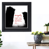Literary Term, Metaphor, Black and White, Sinclair Lewis. Available Plain Art Print, Laminated or Framed