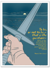To Be, Hamlet Literary Poster