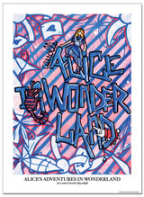 Alice in Wonderland Literary Poster