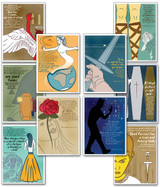 Quotable Shakespeare Literary Poster Set