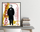 Nathaniel Hawthorne Important Authors Literary Art Print. Educational English Classroom Poster. Fine Art Paper, Laminated, or Framed.