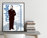 Herman Melville Important Authors Literary Art Print. Educational English Classroom Poster. Fine Art Paper, Laminated, or Framed.