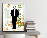 John Steinbeck Important Authors Literary Art Print. Educational English Classroom Poster. Fine Art Paper, Laminated, or Framed.