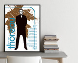 Henry David Thoreau Important Authors Literary Art Print. Educational English Classroom Poster. Fine Art Paper, Laminated, or Framed.