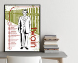 Mark Twain Important Authors Literary Art Print. Educational English Classroom Poster. Fine Art Paper, Laminated, or Framed.