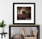 Irony Literary Term Art Print. Choose Fine Art Paper, Laminated, or Framed. Multiple Sizes Available