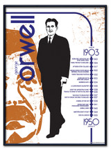 George Orwell Literary Poster