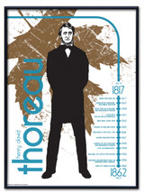 Henry David Thoreau Literary Poster