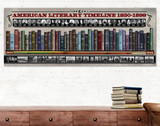 American Literary Timeline 1850-1899 Art Print. Educational Classroom Library Poster