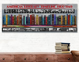 American Literary Timeline 1900-1949 Art Print. Educational Classroom Library Poster