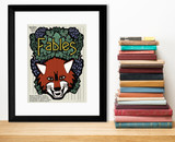 Fables Literary Genre. Educational Classroom Poster. Fine Art Paper, Laminated, or Framed. Multiple Sizes