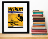Mystery Literary Genre. Literary Art Print. Educational Classroom Poster. Paper, Laminated, or Framed. Multiple Sizes