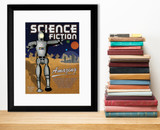 Science Fiction Literary Genre. Literary Art Print. Educational Classroom Poster. Paper, Laminated, or Framed. Multiple Sizes