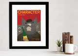 Character Literary Element of a Novel. Educational Classroom Poster featuring Animal Farm by George Orwell. Multiple Sizes.