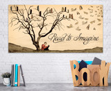 Read to Imagine. Literary Art Print. Reading Motivational Poster. Available Heavy Matte Paper or Laminated.