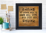 Emily Dickinson Classic Inspirational Quote, Motivational Art Print, Open Every Door. Vintage Style Literary Poster
