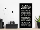 English Literature Subway Sign, Literary Poster, For Classroom, Office, Home or Library. Multiple Sizes Available.