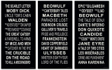 Classic Literature Subway Signs. Multiple Sizes Available for Home, Office, or School.