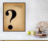Question Mark, Writing, Punctuation and Grammar Art Print. Fine Art Paper, Laminated, or Framed. Multiple Sizes Available