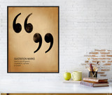 Quote Marks, Writing, Punctuation and Grammar Art Print. Fine Art Paper, Laminated, or Framed. Multiple Sizes Available for Home or School.