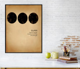 Ellipsis, Writing, Punctuation and Grammar Art Print. Fine Art Paper, Laminated, or Framed. Multiple Sizes Available for Home or School.