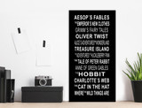 Children's Literature Subway Sign, Literary Poster, For Classroom, Office, Home or Library. Multiple Sizes Available.