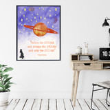 Rudyard Kipling Follow the Dream Children's Literary Quote Print. Available Fine Art Paper, Laminated or Framed. Multiple Sizes.