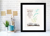 Roald Dahl Greatest Secrets Children's Literary Quote Print. Fine Art Paper, Laminated or Framed. Multiple Sizes