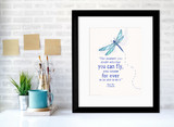 Peter Pan J.M. Barrie You Doubt Whether You Can Fly Children's Literary Quote Print. Fine Art Paper, Laminated or Framed. Multiple Sizes