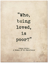 Romantic Quote Poster - A Woman of No Importance by Oscar Wilde. Literary Quote Print. Fine Art Paper, Laminated, or Framed. Multiple Sizes Available for Home, Office, or School.