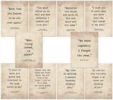 Romantic Literary Quote Poster Set