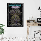 Commonly Misused Words Extra-Large Chalk Board Style Grammar Art Print. Classroom, Library or Office Poster. Multiple Sizes Available.
