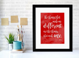 A.A. Milne Different Inspirational Quote Poster. Fine Art Print Available Plain, Laminated or Framed in Multiple Sizes.