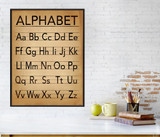 Alphabet Writing and Grammar Art Print. Fine Art Paper, Laminated, or Framed. Multiple Sizes Available for Home or School.