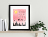 And Though She Be But Little Nursery Fine Art Print. William Shakespeare Literary Gift Available Fine Art Paper, Laminated or Framed.
