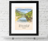 All Things are Possible - Pearl S. Buck Quote Fine Art Print