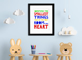The Smallest Things Take Up the Most Room A. A. Milne, Winnie the Pooh Literary Inspirational Print. Fine Art Paper, Laminated or Framed.