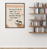 Going for Water Personification Quote, Educational Art Print featuring Robert Frost. Vintage Style Literary Term Poster. Multiple Sizes