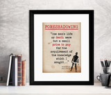 Foreshadowing Frankenstein Quote, Educational Art Print featuring Mary Shelley. Vintage Style Literary Term Poster. Multiple Sizes Available