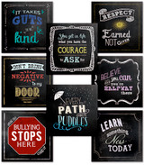 Chalkboard Style Guidance Poster Set of 8. Fine Art Paper, Laminated, or Framed. Multiple Sizes Available for Home, Office, or School.