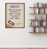 Analogy - Educational Poster featuring T.S. Eliot Quote. Vintage Style Literary Term Classroom Poster