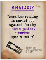 Analogy featuring Quote from T.S. Eliot - Literary Terms 2