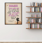Dialect - Educational Poster featuring John Steinbeck Quote. Vintage Style Literary Term Classroom Poster