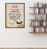 Idiom - Educational Poster featuring Kurt Vonnegut Quote. Vintage Style Literary Term Classroom Poster