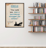 Simile - Educational Poster featuring Ernest Hemingway Quote. Vintage Style Literary Term Classroom Poster