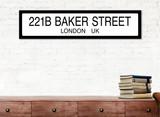 Sherlock Holmes 221B Baker Street Literary Street Sign. Fine Art Paper or Laminated